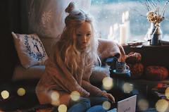 books and sweaters II (AzureFantoccini) Tags: bjd abjd balljointeddoll supia supiadoll jiin room interior diorama miniature dollhouse dollroom stilllife bokeh girl chloe cozy window doll