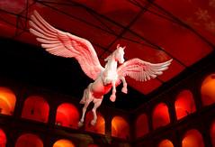 Pegasus (Don Claudio, Vienna) Tags: pegasus advent stallburg wien vienna christmas spanische hofreitschule hofburg lipizzaner art organics red bull adventzauber