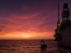 Last Light Offshore (Craig Hannah) Tags: oil offshore gas platform oilrig sunset dusk industry industrial craighannah december 2019 ship boat supplyvessel northsea sea work orange evening scotland uk weather clouds light