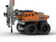 Cockpit left side close-up (KBD Design) Tags: lego arctic mod moc mobile drill rig afol 32061