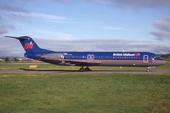 G-BVJB Glasgow 27-8-1998 (Plane Buddy) Tags: gbvjb fokker 100 britishmidland bma glasgow