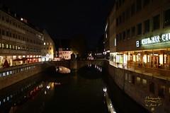 Nuremberg (Jurek.P2 - new account) Tags: norymberga nuremberg niemcy germany pegnitz river rzeka architecture night nightshot city cityscape citynight lights water jurekp2 sonya77