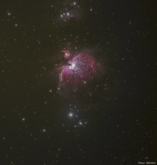 Orion nebula M42 with 300mm (peter-goettlich) Tags: night dark orion m42 orionnebula orionnebel stars sterne nachtaufahme nightshot