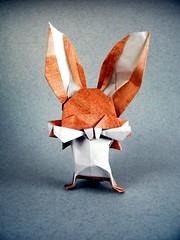 Big Teeth Bunny - Lo Yu (Rui.Roda) Tags: origami papiroflexia papierfalten lapin conejo coelho rabbit big teeth bunny lo yu