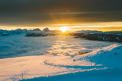 Sunset | Kronplatz, Italy | Aerial (A. Aleksandravičius) Tags: italy brunico bruneck south tyrol mountains europe alps
