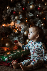 Christmas Magic (or not) (miss.interpretations) Tags: christmas childhood wonder magic tree holiday cheer baby boy mischief bokeh 85mm accident timely memories love family decorations pajamas canon6dmarkii rachelbrokawphotography missinterpretations colorado