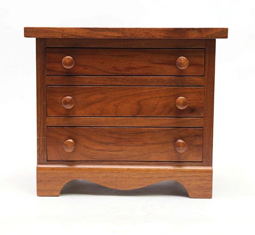 Minature Clore Chest of Drawers with signature ($156.80)