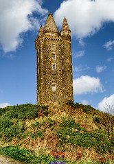 Scrabo tower in Newtownards County Down (Photographs and Images of Northern Ireland) Tags: maiseycat media promotions tower scrabo hill ards newtownards