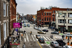 (jfre81) Tags: chicago wicker park damen milwaukee north boulevard avenue windy second city urban 312 cityscape streetscape buildings built environment cars traffic intersection road infrastructure james fremont photography jfre81 canon rebel xs eos
