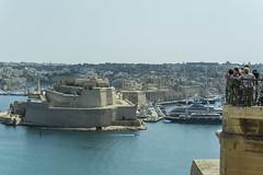 Vittorioso and Fort St Angelo (fotofrysk) Tags: malta valletta island mediterraneansea europe eu 2019islandtrip september2019 scenes 201909187579