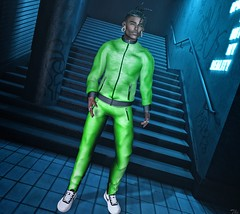 Green and Black... (ThiegoFire) Tags: black neon guy green lights multiplymx burley hair boy sl secondlife photo photography pic outfit 2019 handsome blogger sexy
