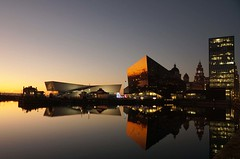 Liverpool (Colin Nicholson) Tags: liverpool coast city cityscape uk england merseyside evening nightfall sunset reflections waterfront