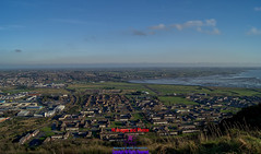 View of Neawtownards and Ards airport from Scrabo hill (Photographs and Images of Northern Ireland) Tags: maiseycat media promotions ards airport newtownards scrabo hill tower
