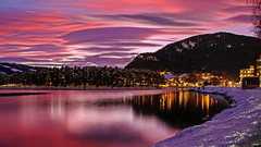 Fagernes i solnedgang i desember 👍 (Sven Ingar Moen) Tags: elements valdres norgepåsittbeste thebestofnorway visitinnlandet rødhimmel solnedgang