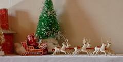 Santa and his reindeer_0051 2 (Emily1957) Tags: santaclaus reindeer sleigh christmas occupiedjapan vintage light naturallight nikond40 nikon kitlens