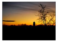 TWILIGHT'S WESTERN WINTER SKY. (StockCarPete) Tags: sky twilight magichour wintersky sunset sunsetnow aladins greenford london uk view windowview horizon trees leaflesstrees