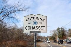 Cohasset, MA (Stephen St-Denis) Tags: cohasset massachusetts norfolkcounty townline sign enteringmass