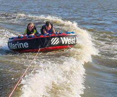 kids on tube -2 (Rich Miltner) Tags: lake wateree state park tubing waves wake south carolina water sports