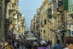 Merchant's Street, Valletta (fotofrysk) Tags: malta valletta island mediterraneansea europe eu 2019islandtrip september2019 scenes 201909187580