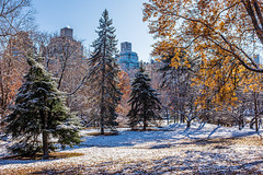 And Suddenly Winter Arrived (CVerwaal) Tags: autumn centralpark snow fujifilmx100t