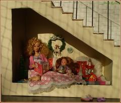 3.advent day (Mary (Mária)) Tags: barie christmas advent stairs niche kelly christmastree ornaments doll barbiebasic handmade mattel diorama dollphotography dollcollector dollphotographer marykorcek