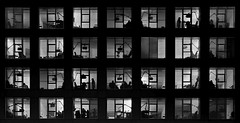 La ventana indiscreta   Rear Window (Woopi) Tags: chuac coruña hospital acoruña galicia sanitario salud byn blancoynegro
