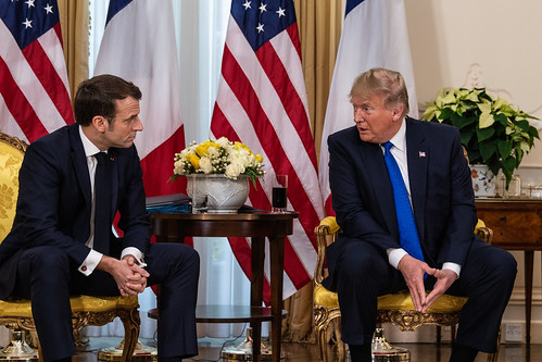 Donald Trump and French President Emmanuel Macron, From FlickrPhotos