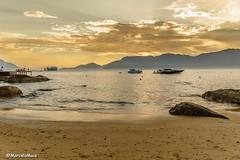 Ilhabela Sunset (MFMarcelo) Tags: ilhabela saopaulo brazil sunset sun sky ocean water beach rock cloud montain