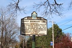 Massachusetts Bay Colony Tercentenary Commission Marker  - Early Boundary Line (Stephen St-Denis) Tags: massachusettsbaycolonytercentenarycommissionmarkershistoricalmarker earlyboundaryline cohasset plymouthcounty norfolkcounty