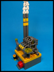 The Little Power Station (Karf Oohlu) Tags: lego moc microscale vignette powerstation