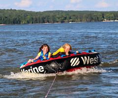 kids on tube (Rich Miltner) Tags: lake wateree state park tubing south carolina kids water sports