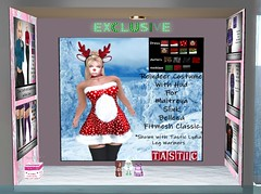 Tastic-Swank Booth-December 7th (Spanky SL *Owner of Tastic store*) Tags: tastic swank event fashion exclusive sl secondlife flickr mesh hud christmas xmas snow costume reindeer photo picture designer maitreya slink belleza fitmesh inside outside new old cute womens