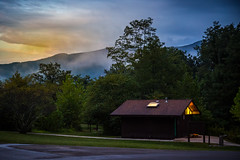 Sunrise Over The Bath House (Brad Prudhon) Tags: 2019september places senecarocks senecashadowscampground westvirginia