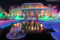 2-watermark (Brian M Hale) Tags: tower hill botanic botanical garden boylston ma mass massachusetts newengland usa outside night long exposure fountain turtle building architecture christmas lights holiday reflection water brian hale brianhalephoto colorful color