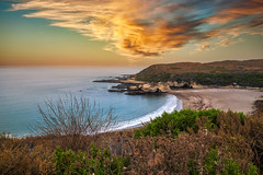 Northern Point (larwbuck) Tags: landscape autumn beach bushes california clouds composite fall ocean rocks seascape sunset travel water