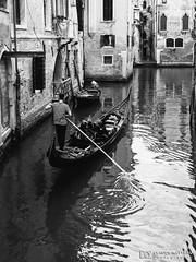 190703-480 Venise (clamato39) Tags: olympus venise italie italy europe canal eau water gondole voyage trip blackandwhite monochrome noiretblanc bw ville city urban urbain
