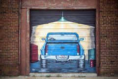 Texas Thundr by Tye (_aires_) Tags: texas aires unitedstatesofamerica mclean iris light truck graffiti gas garagedoor canoneos5dmarkiv