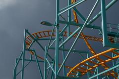 Before the Storm (Robert Borden) Tags: abstract color architecture rollercoaster storm clouds dark goodlight light fujifilmxt2 fuji fujifilm 50mm 50mmlens 50mmprime prime primelens santacruz boardwalk santacruzbeach beach cali centralcali centralcoast california californiagram californiagrammer