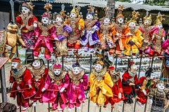 Burmese String Puppetry (kiwi photo lover) Tags: myanmar burma tradition heritage culture yokethe puppets puppetry marionette bright colours string wire vividstriking