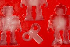 Ice Robots 2 (jolynne_martinez) Tags: kansascity mo unitedstatesofamerica red icecubetray ice robot robots key nikkor nikon nikond60