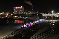 Hollywood Nights (Nick Brown Photography) Tags: train lights milwaukee wisconsin rail sky