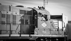 Hoggin' It! (backlitkid) Tags: freight trains blol7591 railroading railfanning engineer bw illinois horn