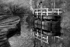 SwingBridge (Tony Tooth) Tags: nikon d7100 nikkor 55300mm bridge swingbridge canal macclesfieldcanal lymegreen cheshire bw blackandwhite monochrome