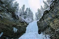 Troll Falls (Sean Maynard) Tags: g3x canon cold winter waterfall frozen falls nature gorge ice forest horizontal rock scenery scenic daytime park kananaskis nakiska alberta canada