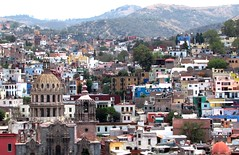 Hilltop view (thomasgorman1) Tags: view hills houses city canon historic funicular dome travel guanajuato mexico colors colonial church rooftops central