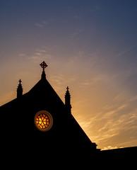 A hole for souls (ajecaldwell11) Tags: xt3 newzealand ankh silhouette church wellington sky orange clouds caldwell fujifilm light
