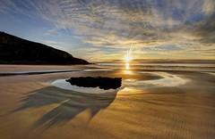 Take it easy (pauldunn52) Tags: beach sunset rock pool shadows witches point glamorgan heritage coast wales