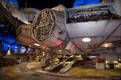 The Millennium Falcon (mwjw) Tags: hollywoodstudios disney disneyworld orlando florida markwalter mwjw nikond850 nikon24120mm nightshot night longexposure galaxysedge