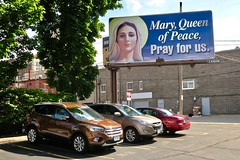 Virgin Mary Billboard, Dubuque, IA (Robby Virus) Tags: dubuque iowa ia billboard religion christ christian virgin mary mother queen peace pray for us sign signage