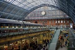 St Pancras station, London, November 2019 (sbally1) Tags: london terminus station railway train trainstation stpancras christmas city iconic restoration rail